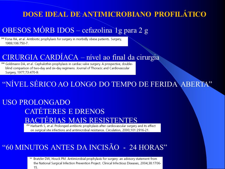 DOSE IDEAL DE ANTIMICROBIANO PROFILÁTICO