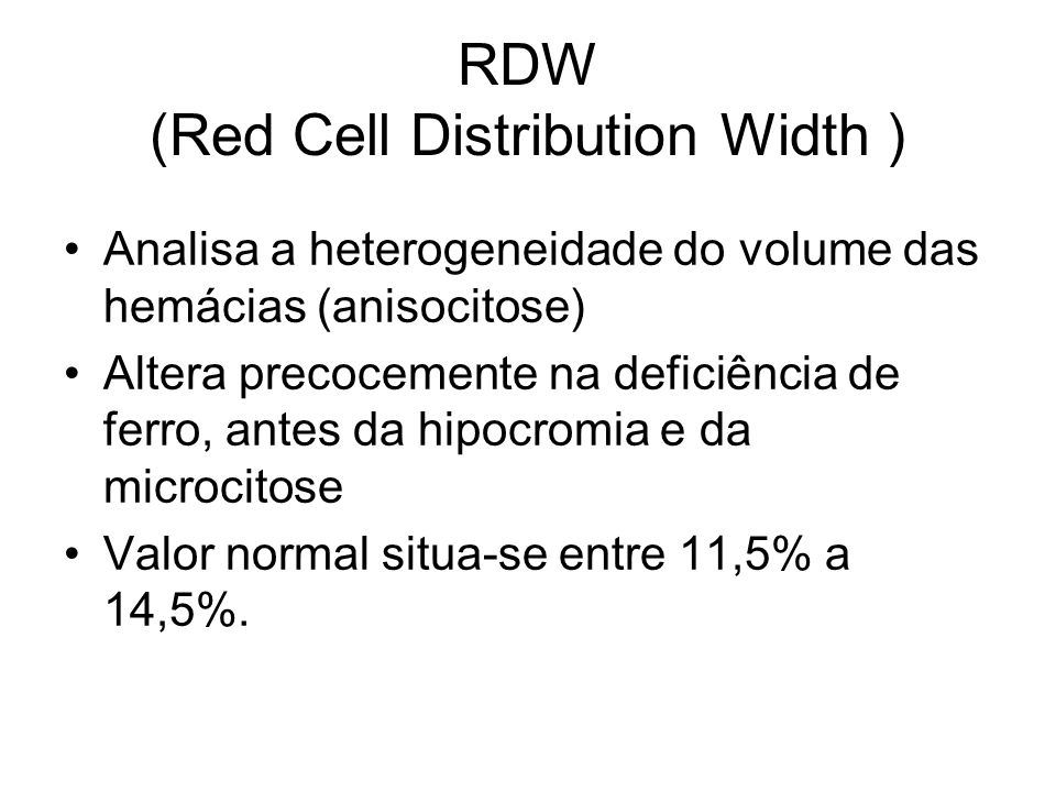RDW (Red Cell Distribution Width )