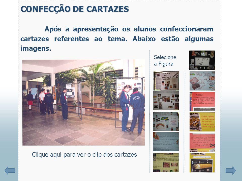 CONFECÇÃO DE CARTAZES Após a apresentação os alunos confeccionaram cartazes referentes ao tema. Abaixo estão algumas imagens.
