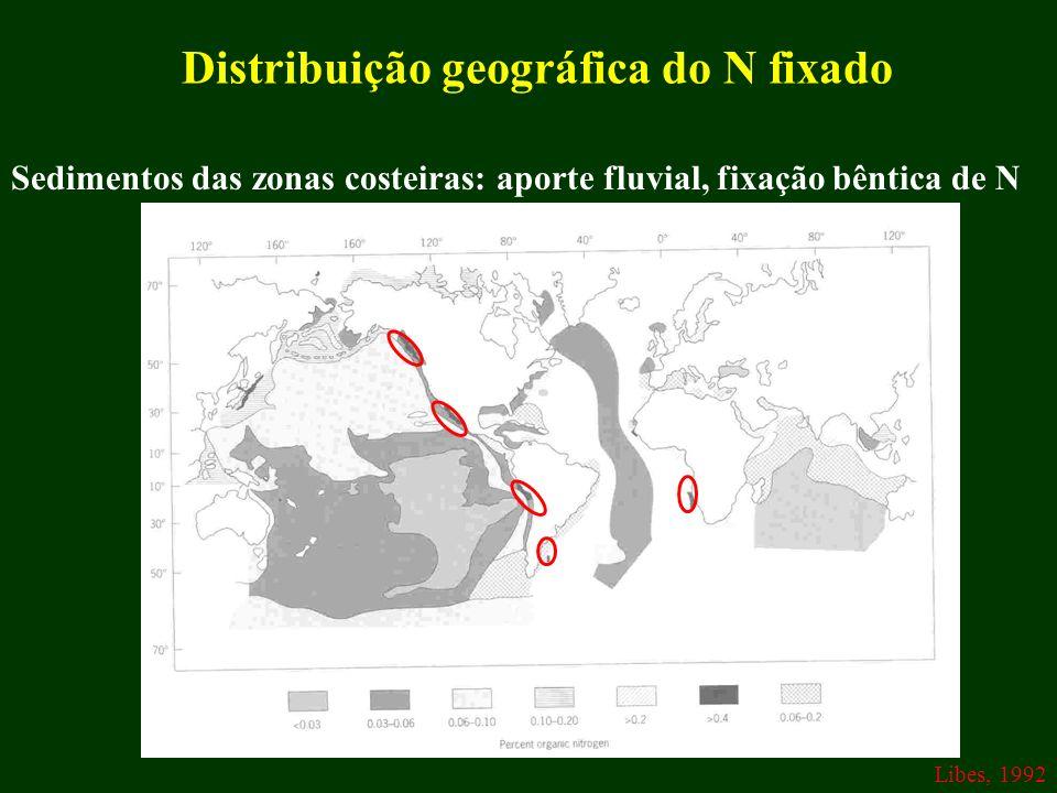 Distribuição geográfica do N fixado