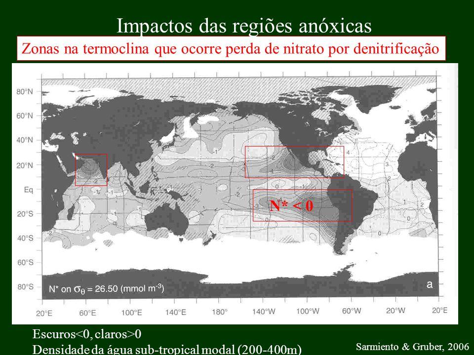 Impactos das regiões anóxicas