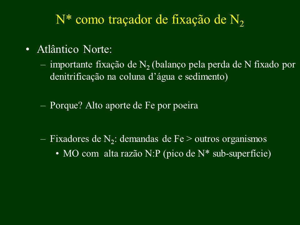 N* como traçador de fixação de N2