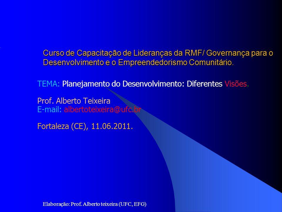 Universidade Federal do Ceará (UFC) Pró-Reitoria de Extensão Escola de Formação de Governantes Curso de Capacitação de Lideranças da RMF/ Governança para o Desenvolvimento e o Empreendedorismo Comunitário.