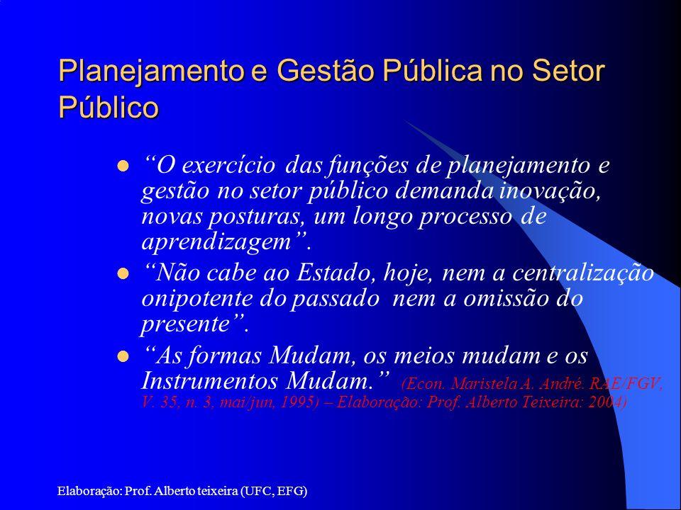 Planejamento e Gestão Pública no Setor Público
