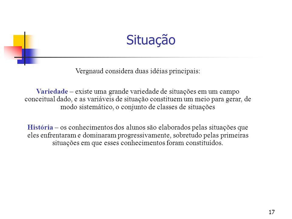 Vergnaud considera duas idéias principais: