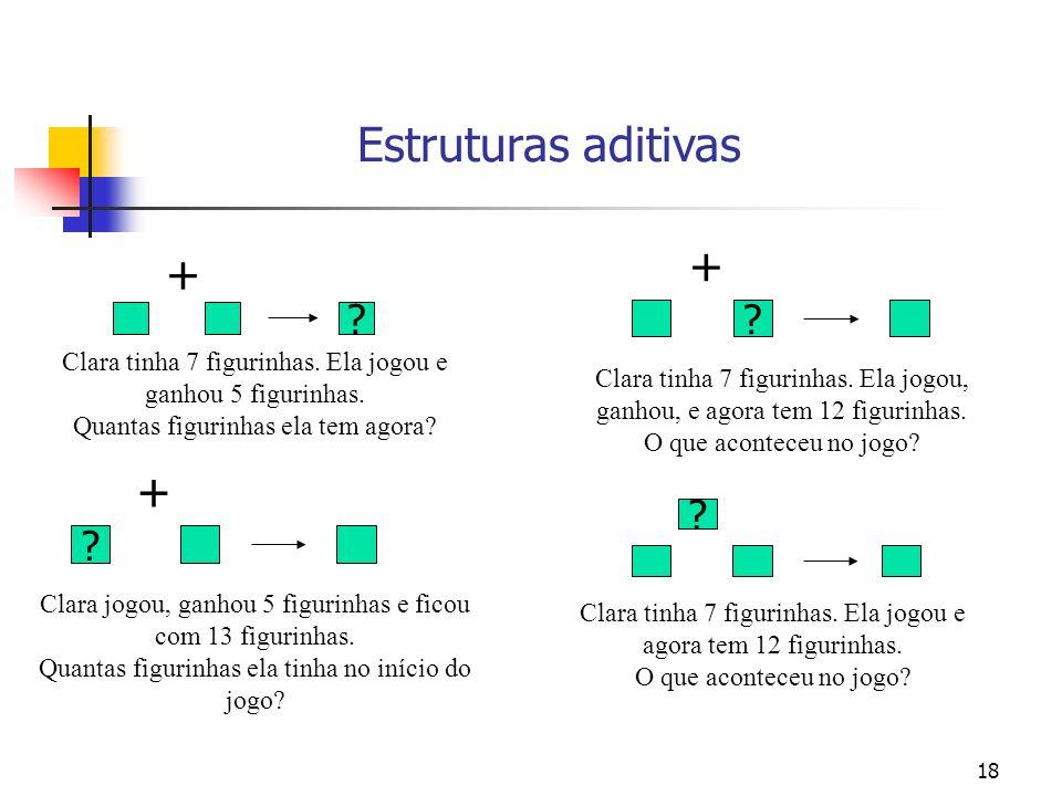 Estruturas aditivas + + +