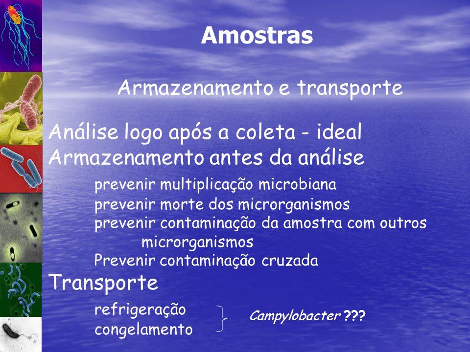 Armazenamento e transporte