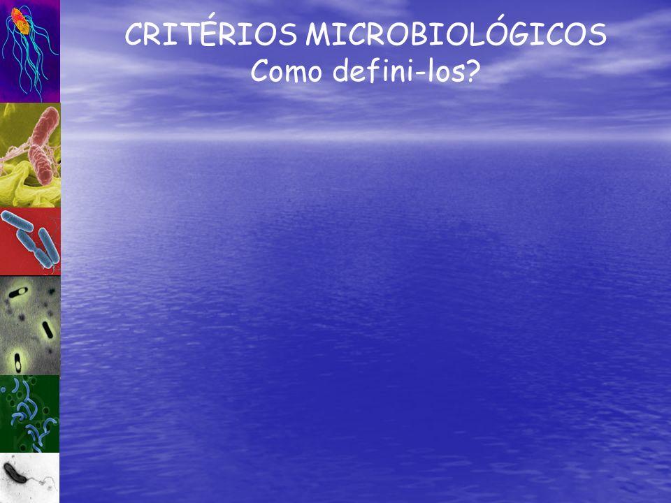CRITÉRIOS MICROBIOLÓGICOS