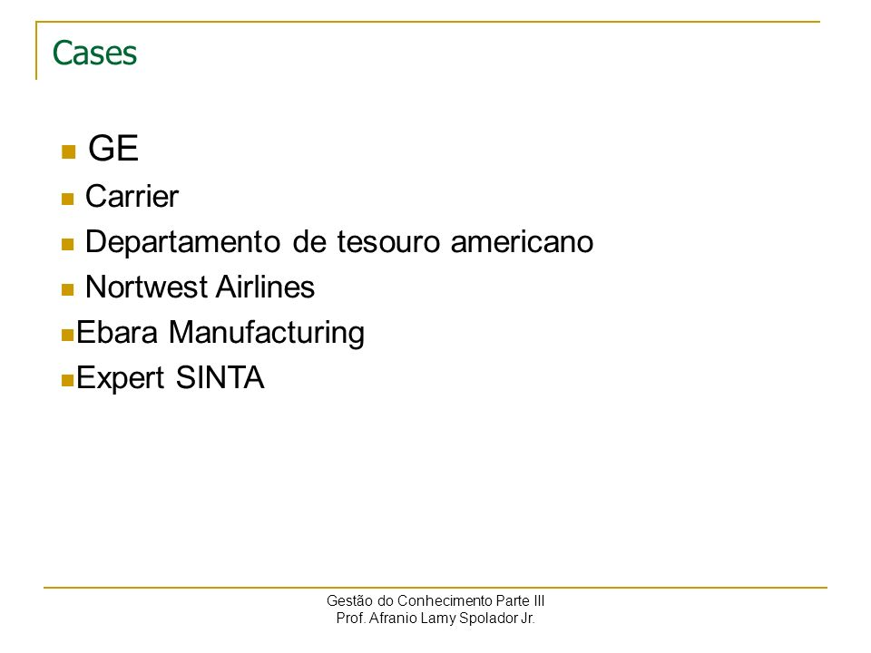GE Cases Carrier Departamento de tesouro americano Nortwest Airlines
