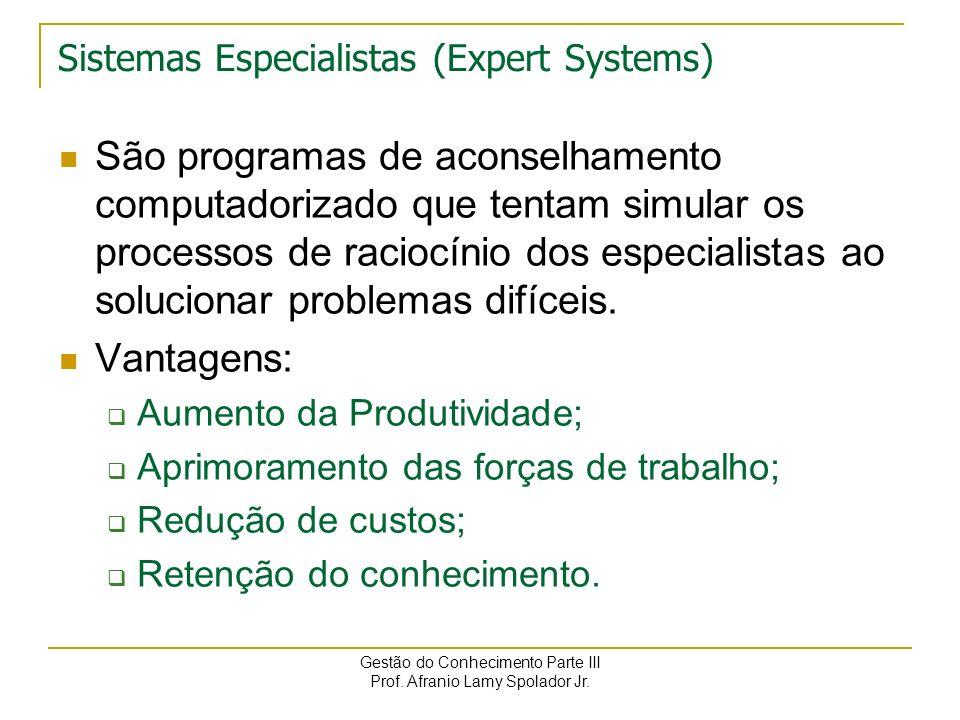 Sistemas Especialistas (Expert Systems)