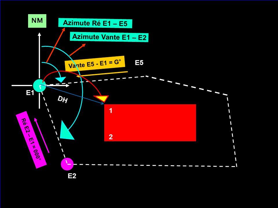 NM Azimute Ré E1 – E5 Azimute Vante E1 – E2 E5 E1 DH 1 2 E2