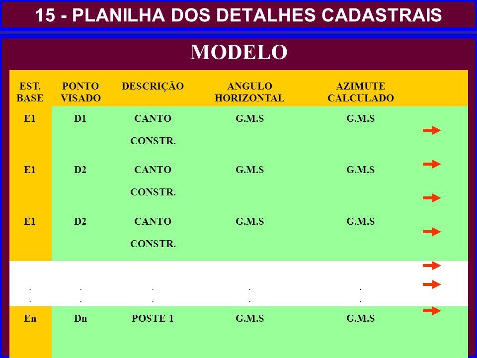 15 - PLANILHA DOS DETALHES CADASTRAIS