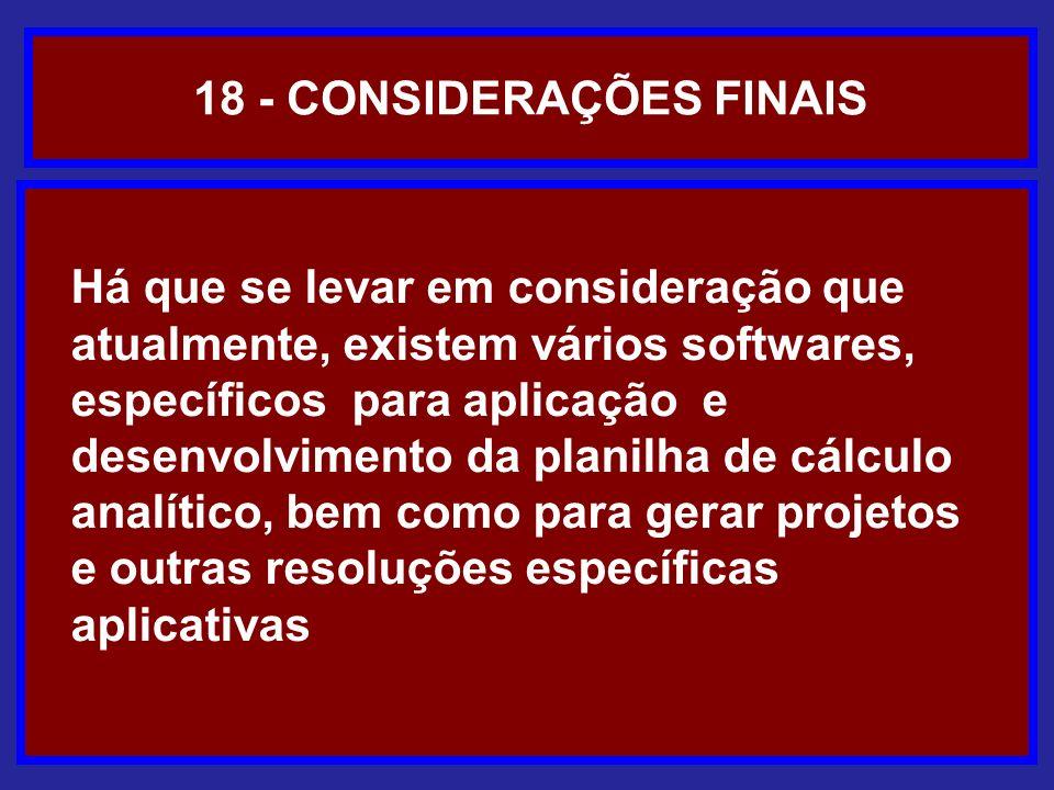 18 - CONSIDERAÇÕES FINAIS