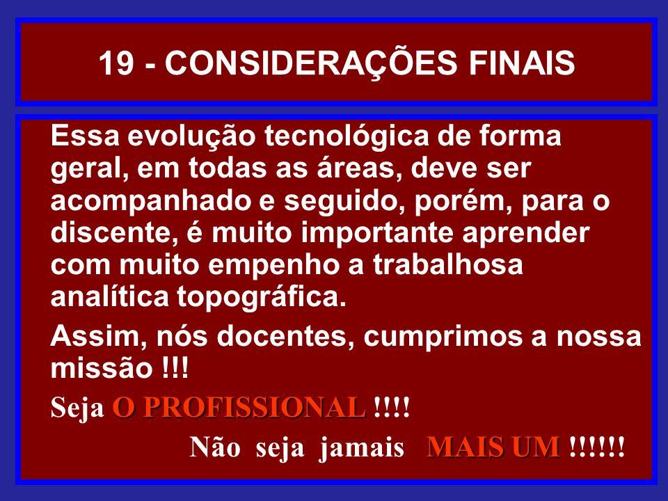 19 - CONSIDERAÇÕES FINAIS