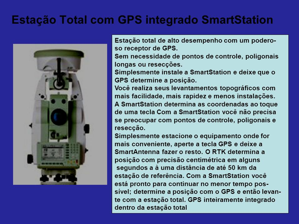 Estação Total com GPS integrado SmartStation