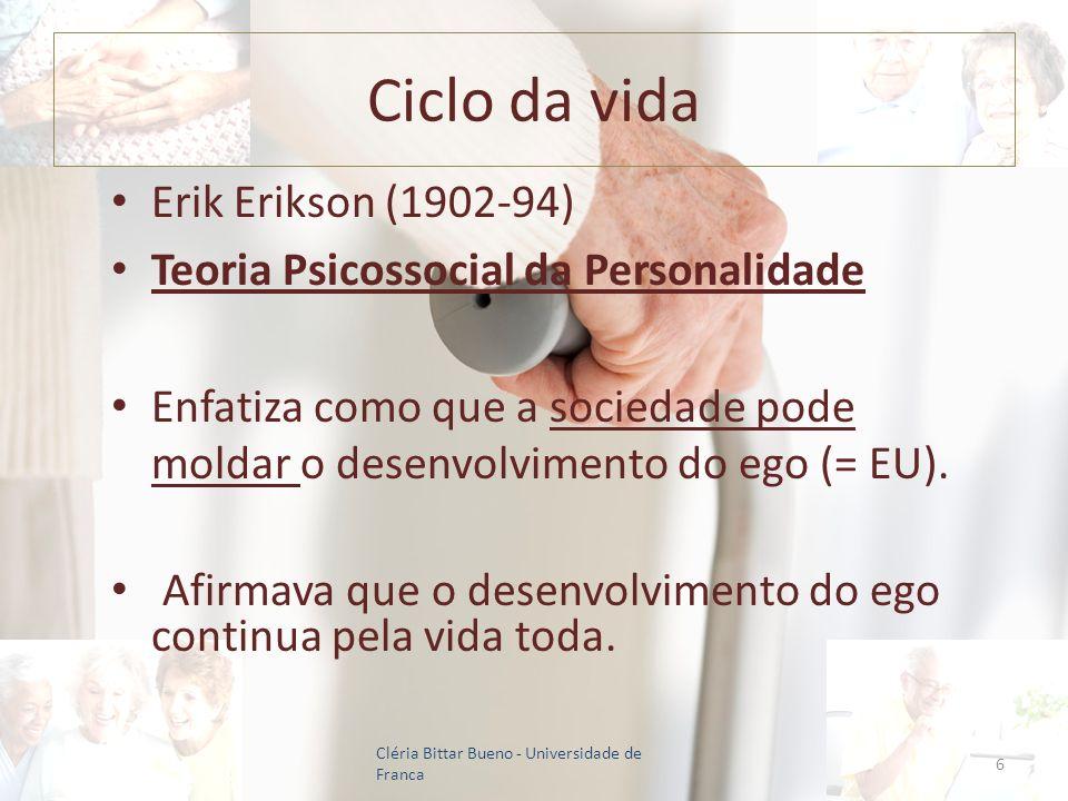 Ciclo da vida Erik Erikson (1902-94)