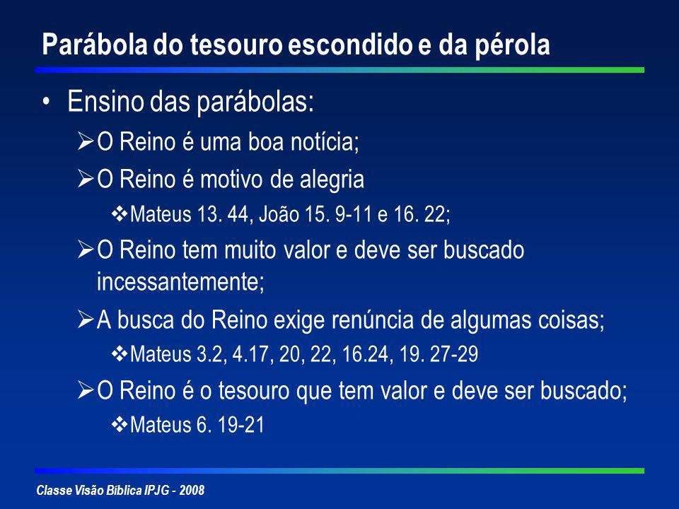 Parábola do tesouro escondido e da pérola