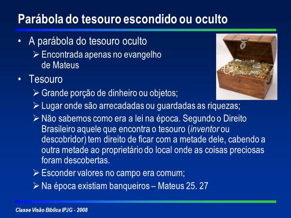Parábola do tesouro escondido ou oculto