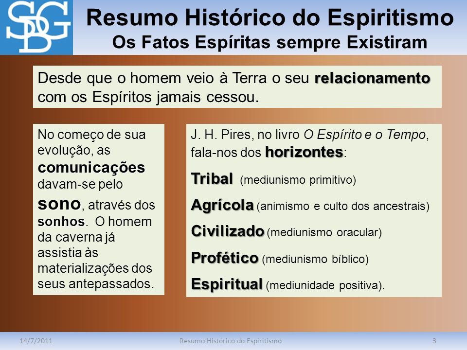 Resumo Histórico do Espiritismo Os Fatos Espíritas sempre Existiram