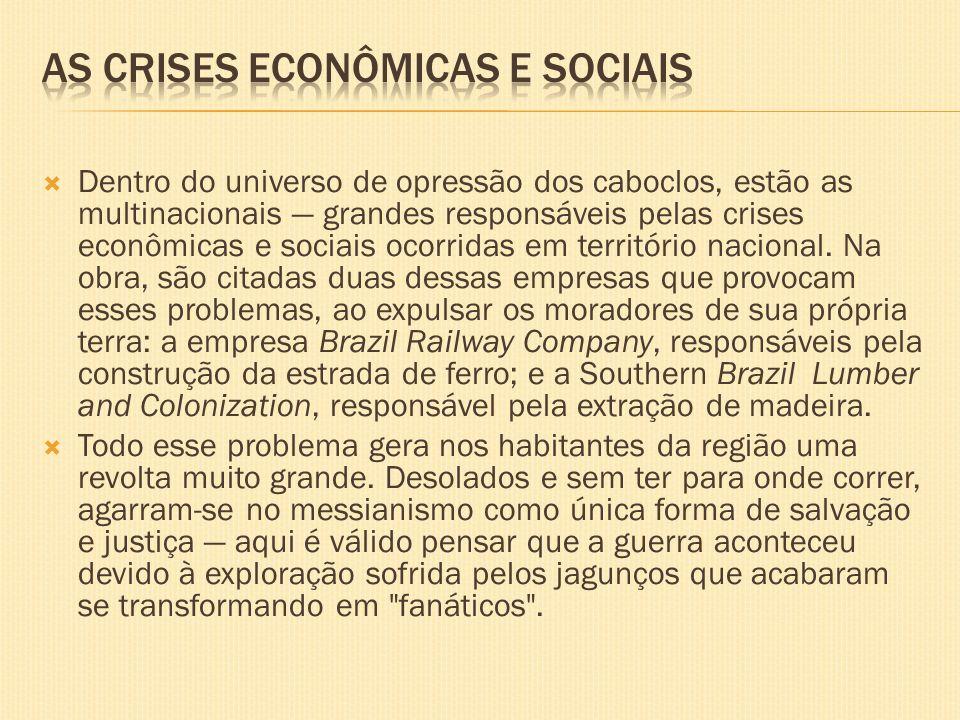 As crises econômicas e sociais