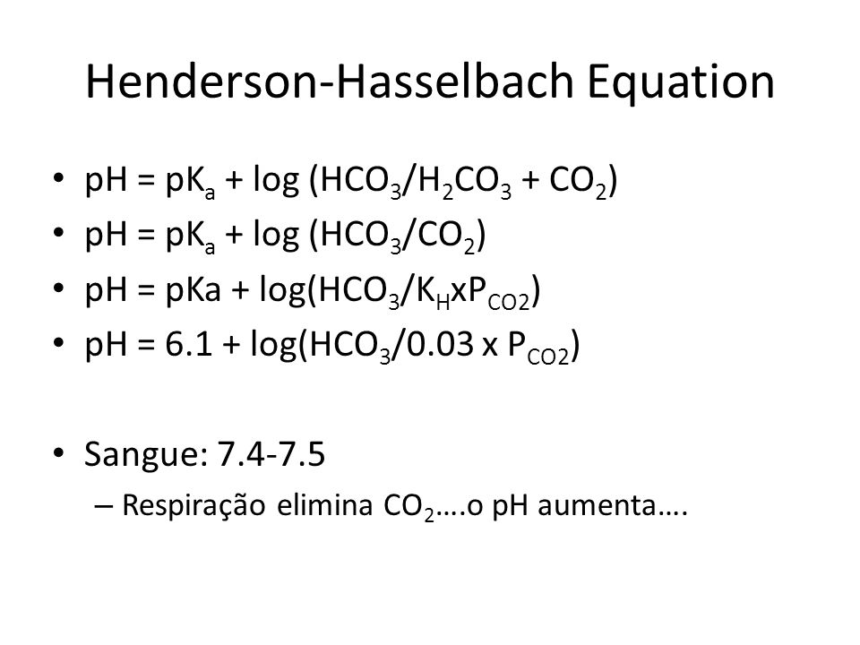 Henderson-Hasselbach Equation