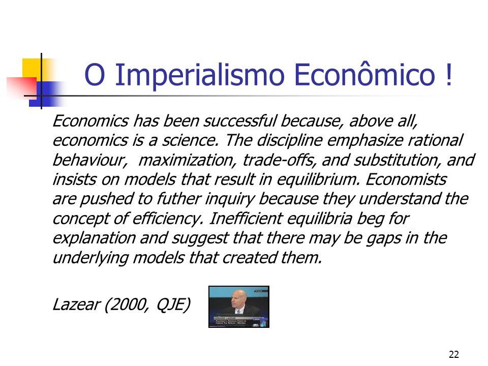 O Imperialismo Econômico !