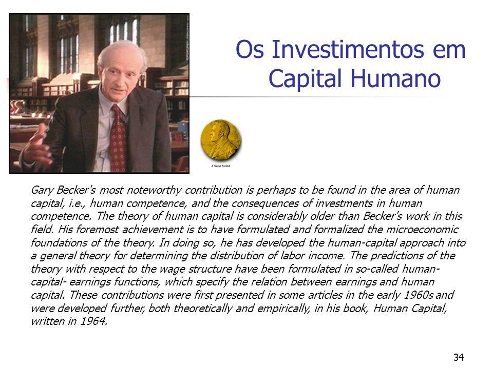 Os Investimentos em Capital Humano