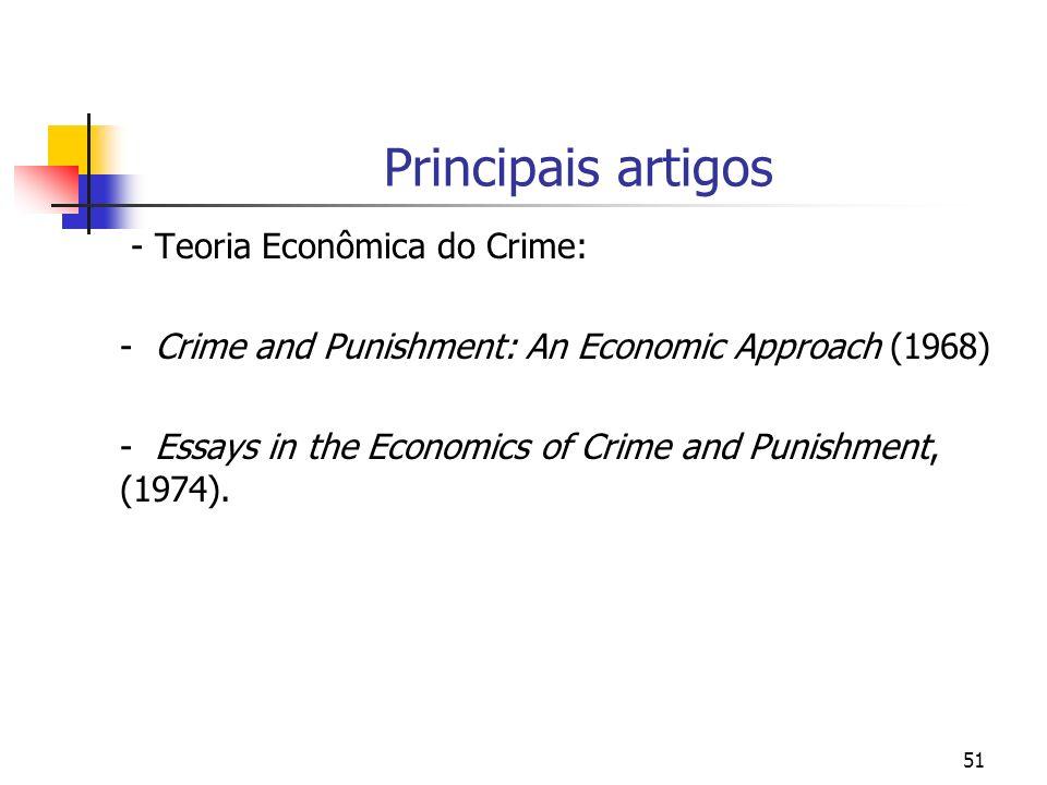 Principais artigos - Teoria Econômica do Crime: