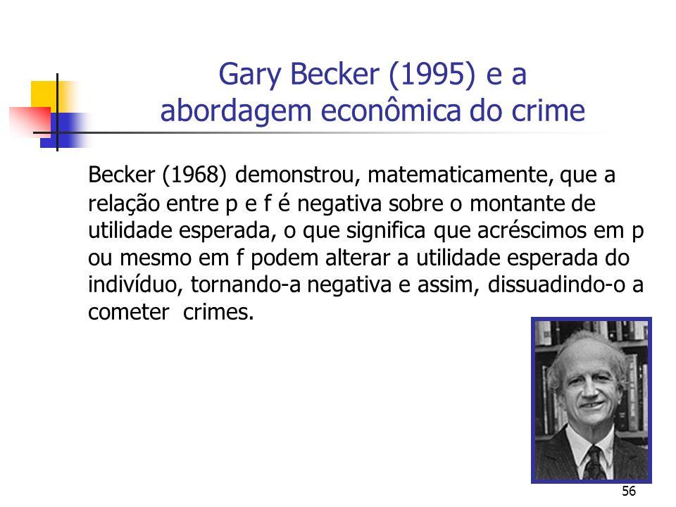 Gary Becker (1995) e a abordagem econômica do crime