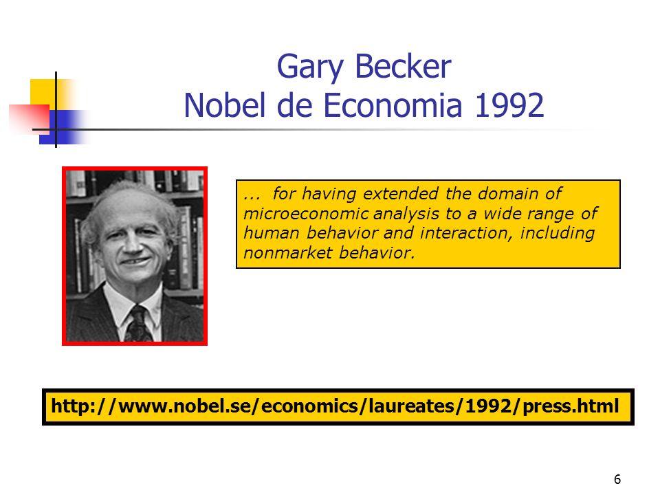 Gary Becker Nobel de Economia 1992