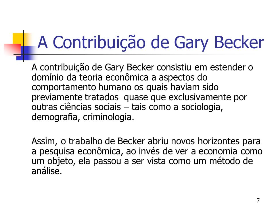A Contribuição de Gary Becker