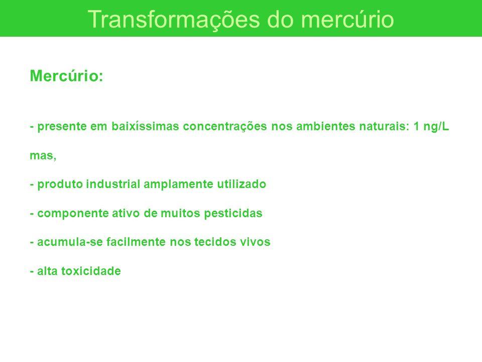 Transformações do mercúrio