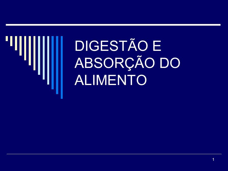 DIGESTÃO E ABSORÇÃO DO ALIMENTO