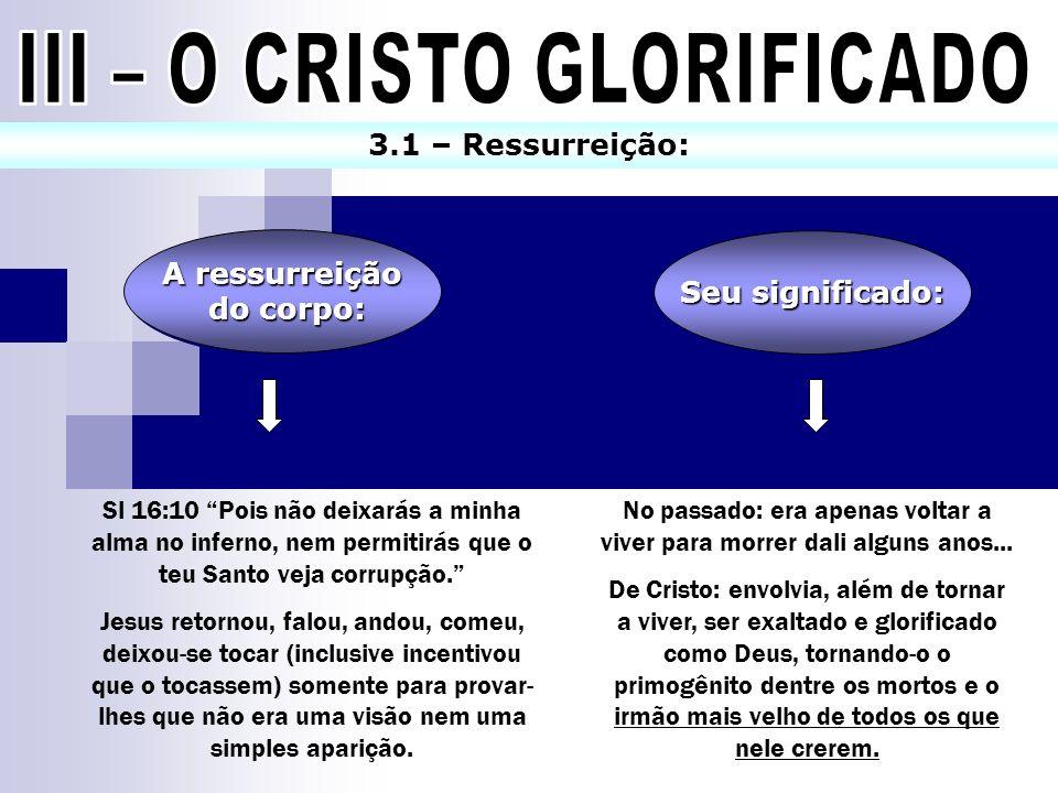 III – O CRISTO GLORIFICADO