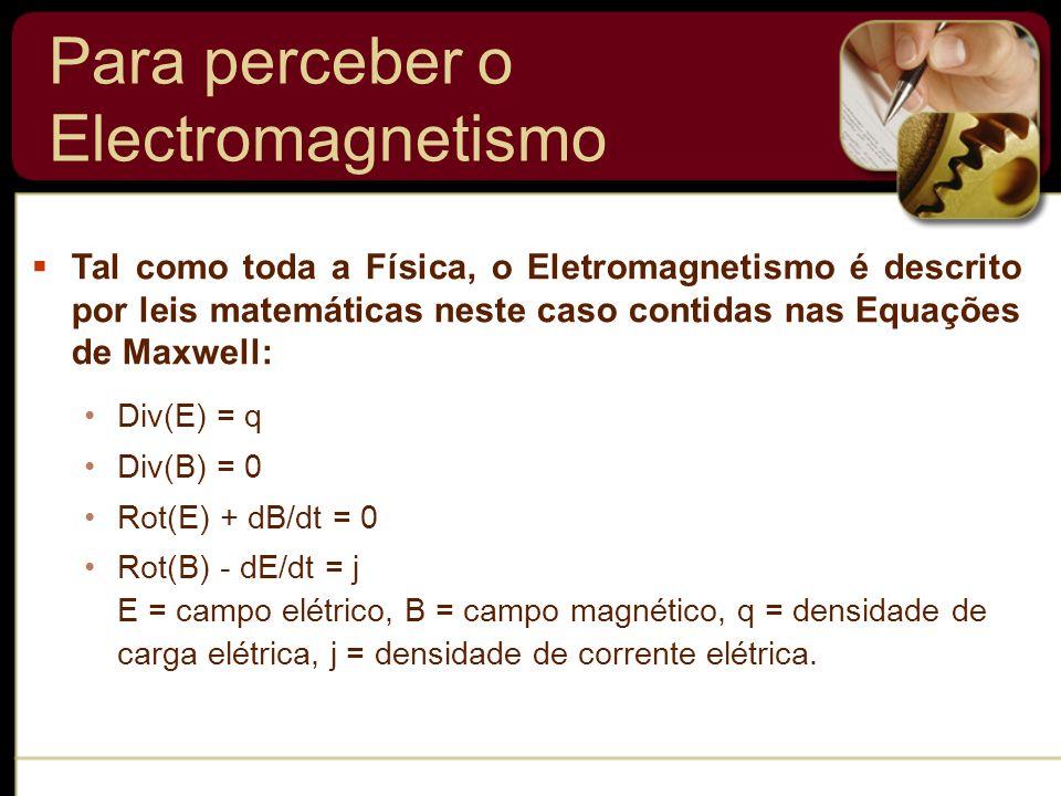 Para perceber o Electromagnetismo