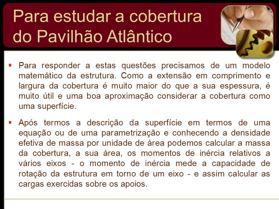 Para estudar a cobertura do Pavilhão Atlântico