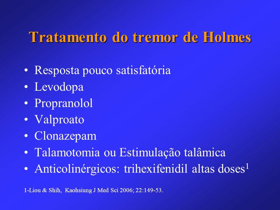 Tratamento do tremor de Holmes