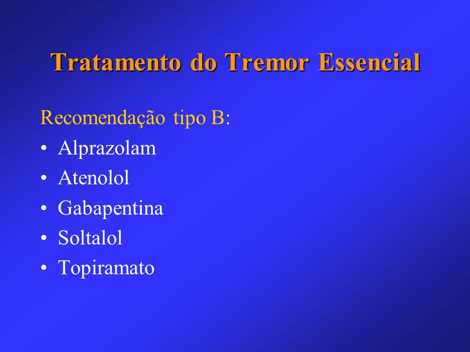 Tratamento do Tremor Essencial