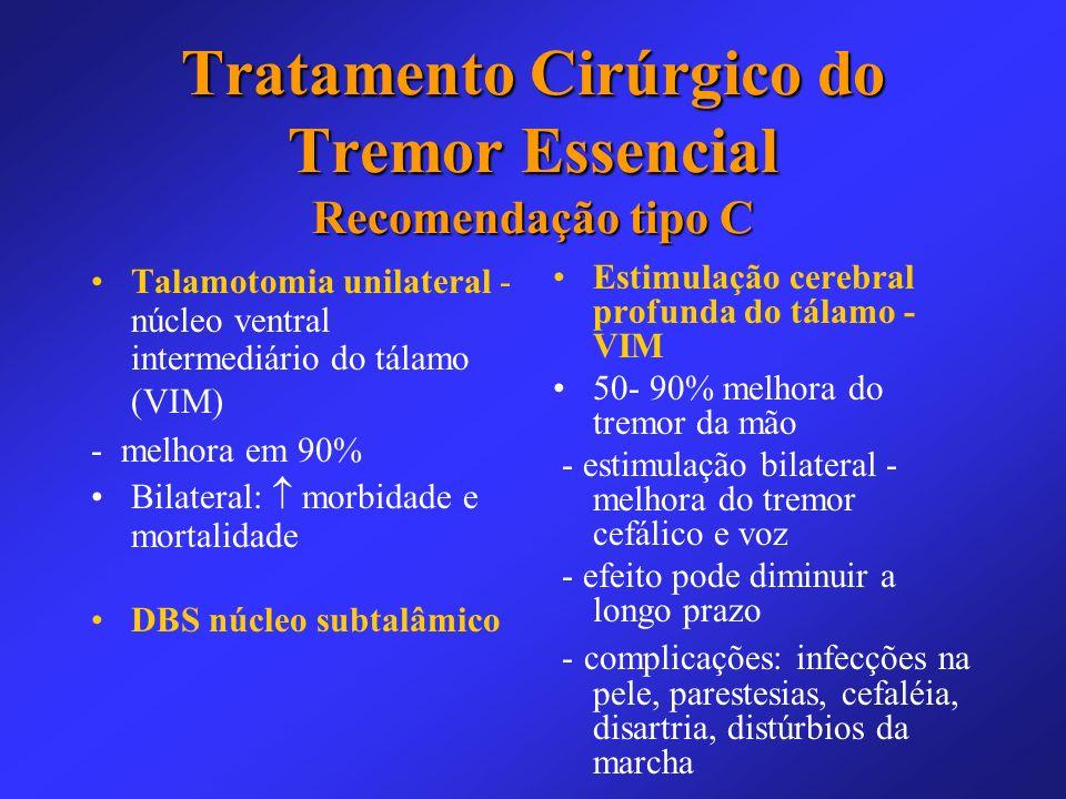 Tratamento Cirúrgico do Tremor Essencial Recomendação tipo C