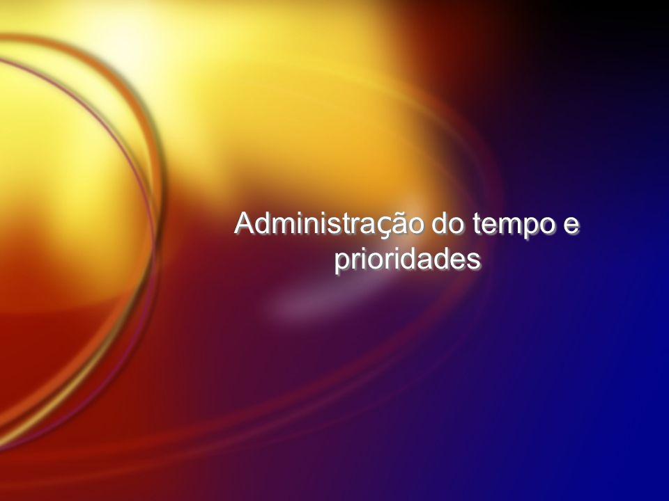 Administração do tempo e prioridades