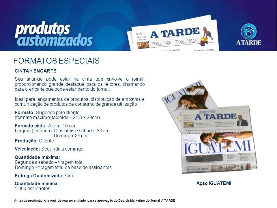 FORMATOS ESPECIAIS CINTA + ENCARTE