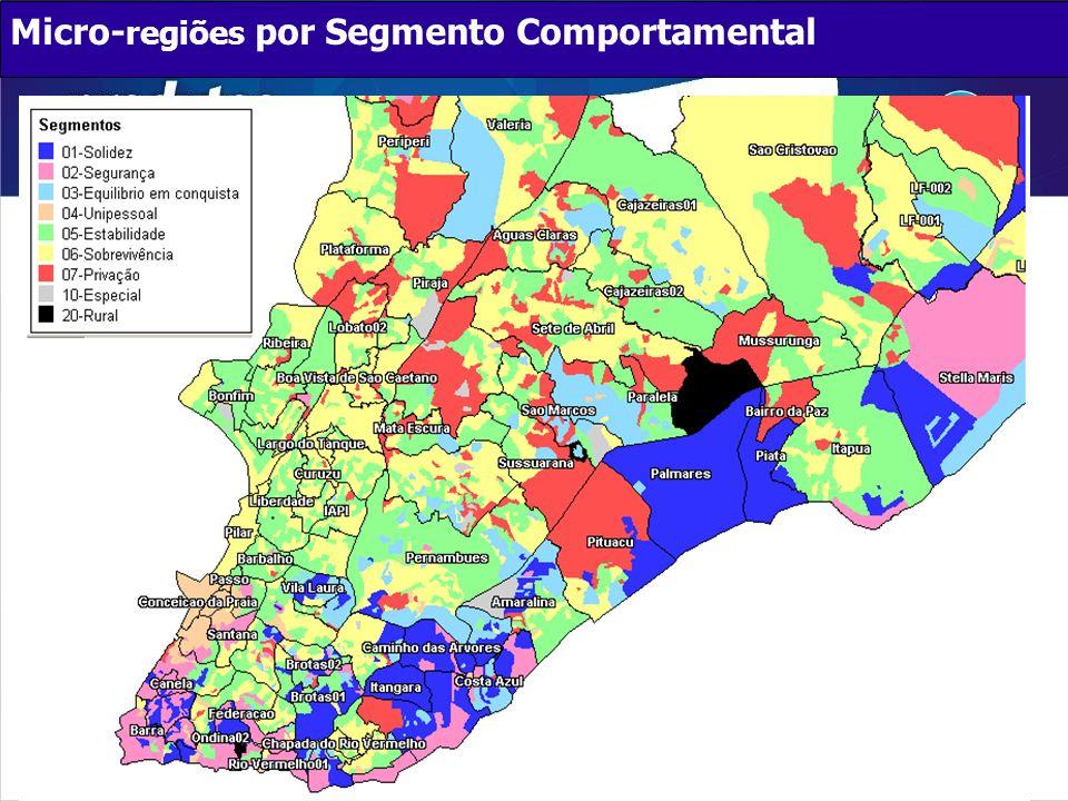 Micro-regiões por Segmento Comportamental