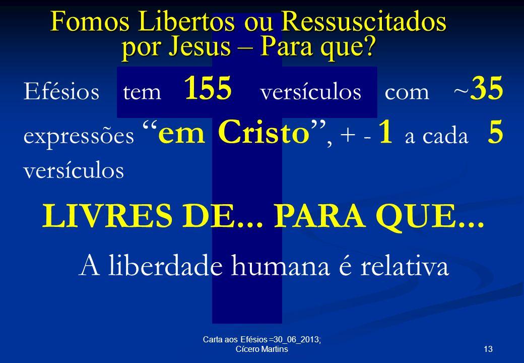 LIVRES DE... PARA QUE... A liberdade humana é relativa