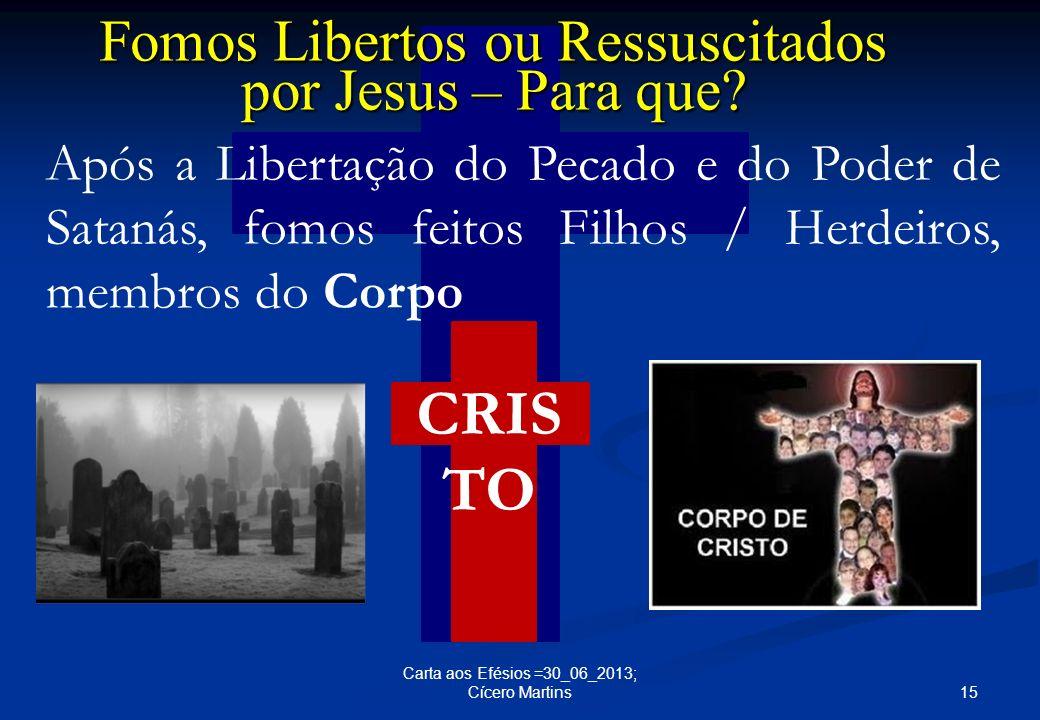 Fomos Libertos ou Ressuscitados por Jesus – Para que