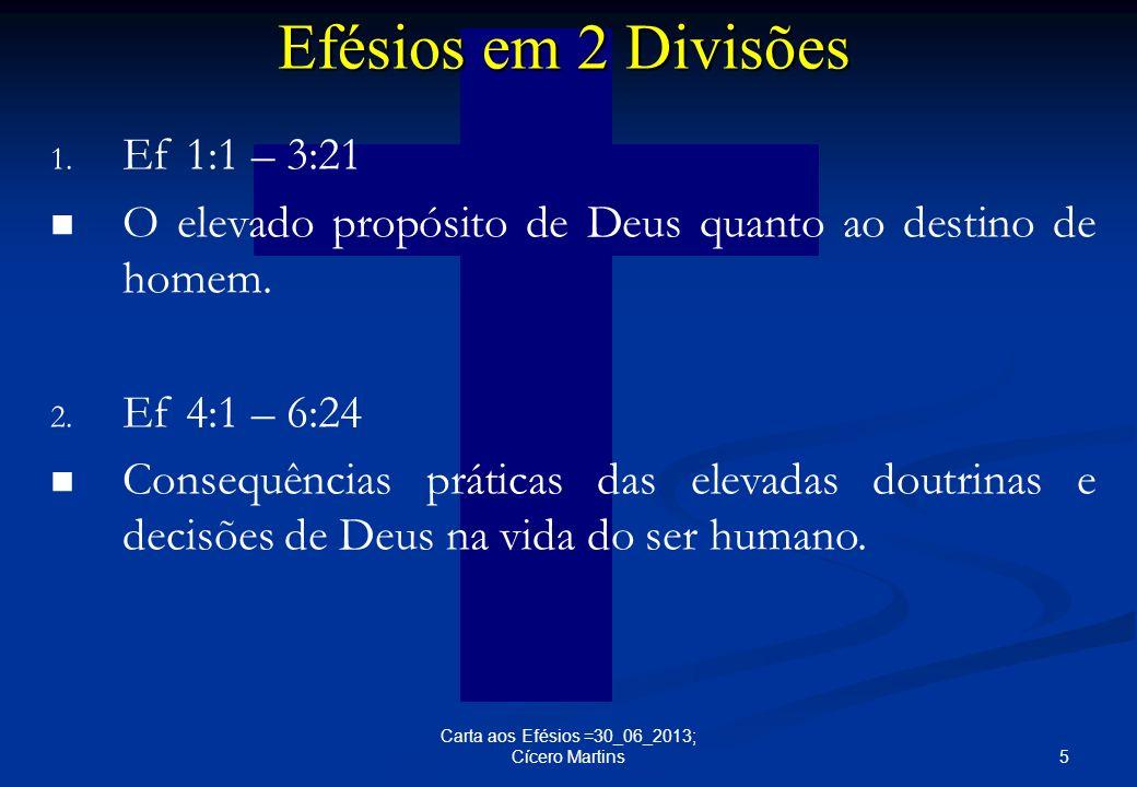Efésios em 2 Divisões Ef 1:1 – 3:21