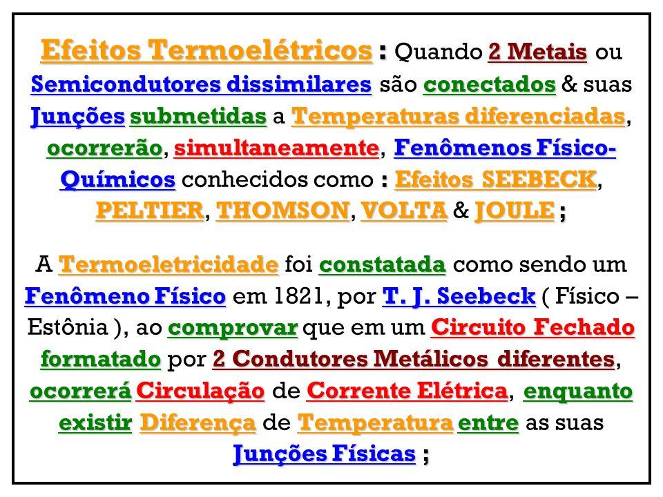 Efeitos Termoelétricos : Quando 2 Metais ou