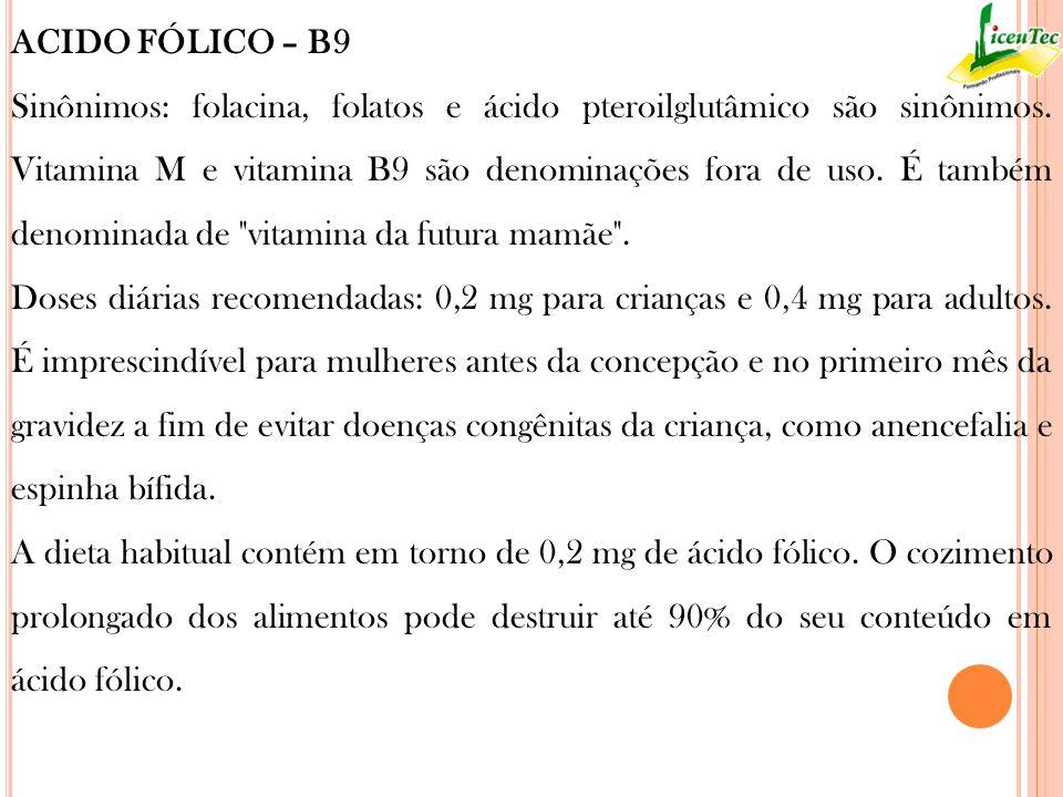 ACIDO FÓLICO – B9