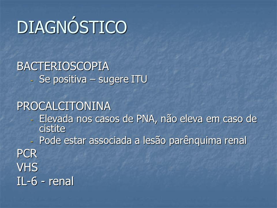 DIAGNÓSTICO BACTERIOSCOPIA PROCALCITONINA PCR VHS IL-6 - renal