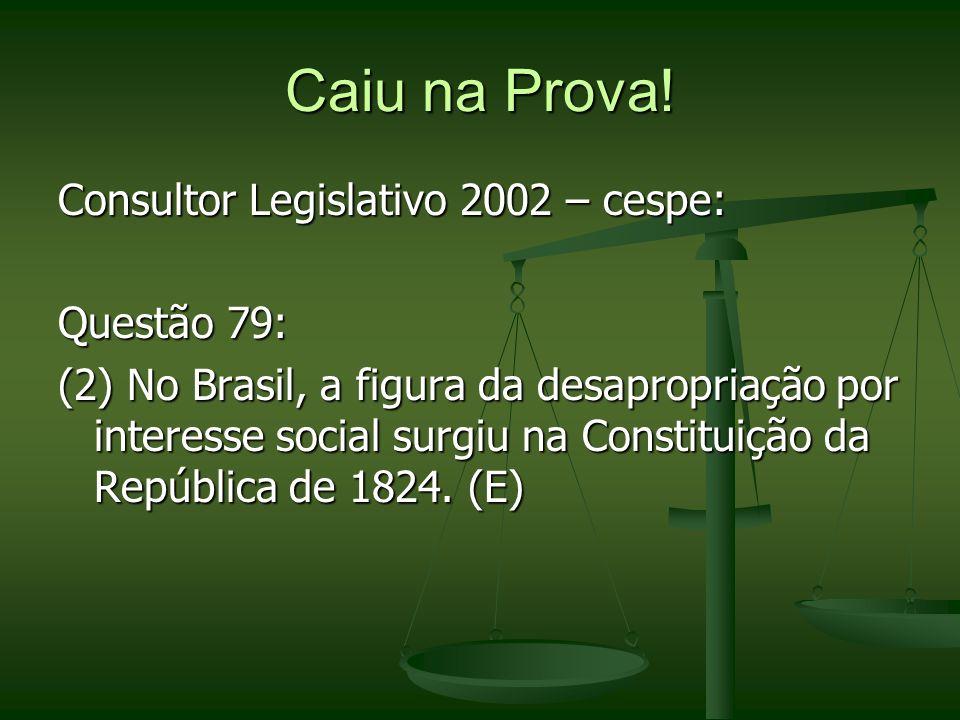 Caiu na Prova! Consultor Legislativo 2002 – cespe: Questão 79: