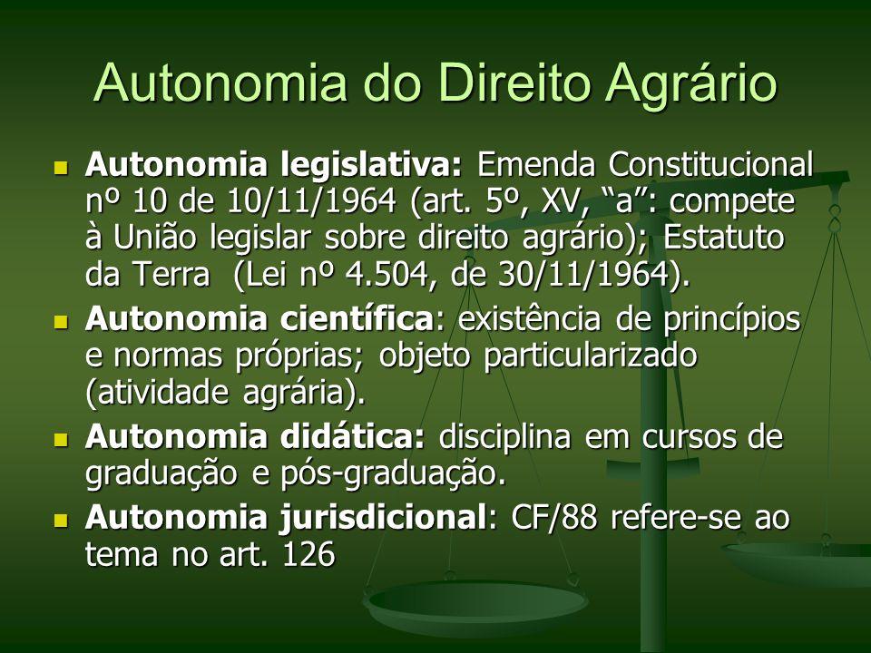 Autonomia do Direito Agrário
